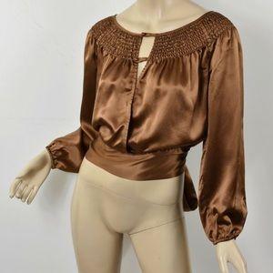 BCBGmaxazria brown silk shirt